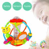 Jouets éducatifs pour bébé 0-12 mois Puzzle main attraper activité balle hochets jouets pour enfants filles garçons enfants main cloche jouet
