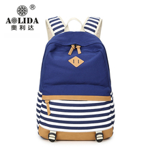 aolida Cute Cat Women Canvas Travel Waterproof Fashion Backpack for Teenage Girls Large Capacity Shoulder School Bag