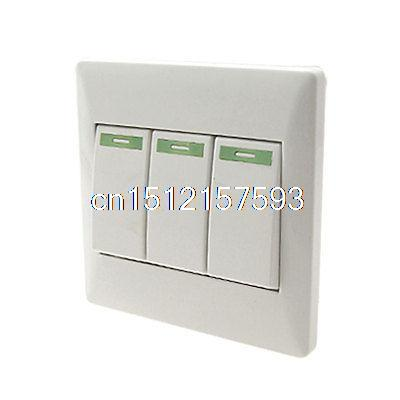 On Home Wall Mount Off Light Switch Plate Cover 3 Gang 250v 10a