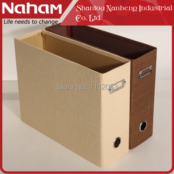 NAHAM Euro Household Elegant Woven paper folding file magazine basket