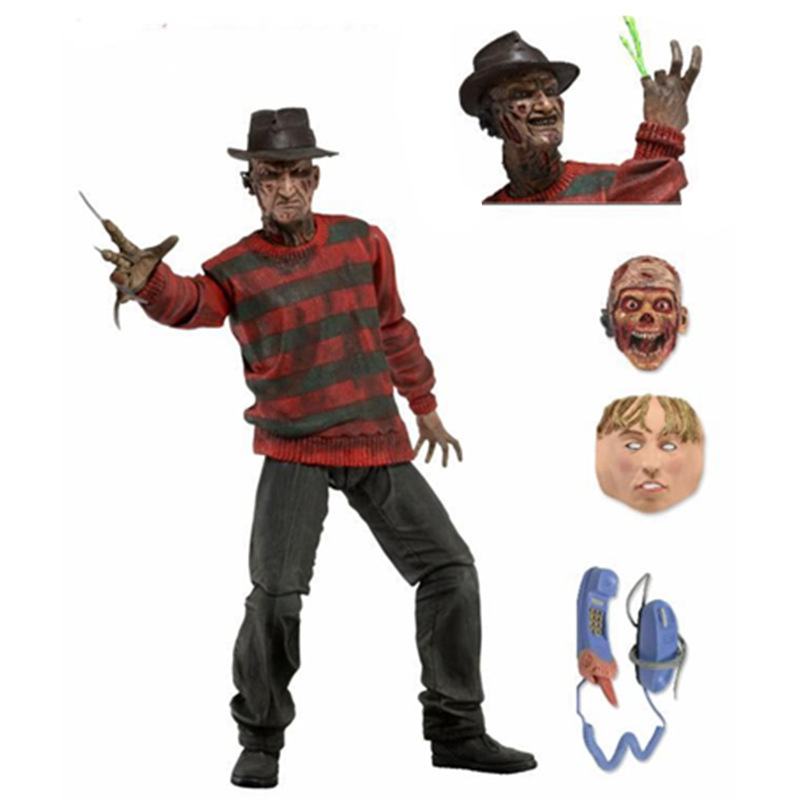 Hot Selling 1SET 19CM New A Nightmare on Elm Street Freddy Krueger PVC Creative Action Figures Collectible Toy neca a nightmare on elm street 3 dream warriors pvc action figure collectible model toy 7 18cm kt3424