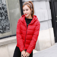 Winter Women Loose Wadded Cotton Abrigo Invierno Solid Color Thick Coat Hooded Short Casual Camperas Mujer Warm Jacket MZ2907