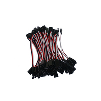 Free shipping 1000pcs/lot 100mm 10cm RC Servos extension wire straight cable for JR Futaba plug connecting servo cables wiring
