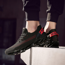 Men Running Shoes Trainers Red Sport Shoes Mens Walking Sneakers Breathable Men Sneakers Black Running Shoes Men's Sports