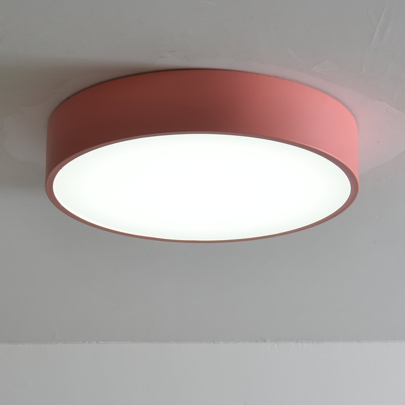 Modern Led Living Room Bedroom Ceiling Light Fixtures Kitchen Lamp Decor Home Lighting White Red Yellow Blue Green Metal 220V black and white round lamp modern led light remote control dimmer ceiling lighting home fixtures