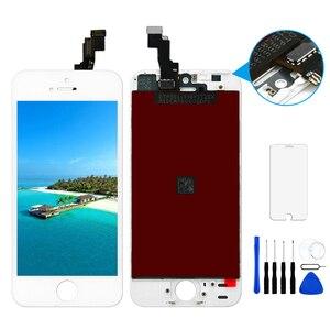 Image 5 - Dla iPhone 5s wyświetlacz LCD z ekranem dotykowym Digitizer zgromadzenie A1453 A1457 A1518 A1528 A1530 A1533 nie martwy piksel czarny biały