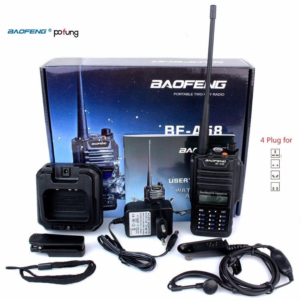 Водонепроницаемый приемопередатчик Baofeng A58, 128 каналов, два диапазона IP57, УКВ/УВЧ 136-174/400-520 МГц, двухстороннее радио