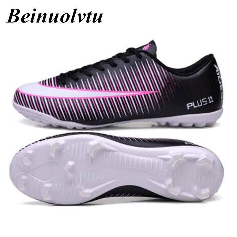 Men's Football Boots Soccer Shoes Children Indoor futsal Hard Wearing Boy Sock Cleats Zapatillas Futbol football shoes Kids