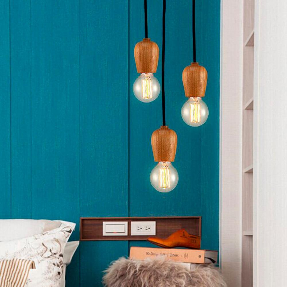 Loft Stil Retro Lampen Decklicht Holz Licht Küche Restaurant Home ...