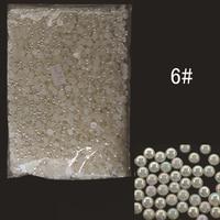 ABPearl6mm 5000 pz/lotto Perfetta Forma di Mezza Rotonda Pearl Beads 6mm Colore AB per Gioielli di Arte Del Chiodo Scarpe Decorazione