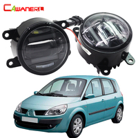 Cawanerl 2 X Car LED Right Left Fog Light DRL Daytime Running Lamp Styling For Renault
