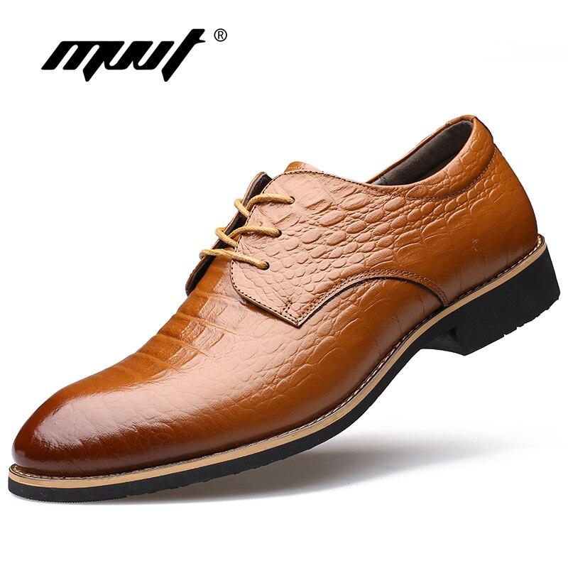 Mvvt Homme Cuir De Formelle En Classique Noir marron Mode Chaussures Décontractée D'affaires Oxfords Hommes Gentleman Robe Véritable Des Luxe rxrn4a