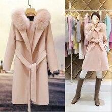 Winter autumn warm long cashmere coat jackets women woolen Breasted Poncho female Belt Overcoat cashmere coat jackets Plus Size