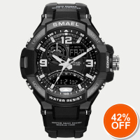 Sport Watch Men Army SMAEL Black Watch White S Shock Quartz Watches Military relogio masculino 1516 Man Waterproof Digital Watch