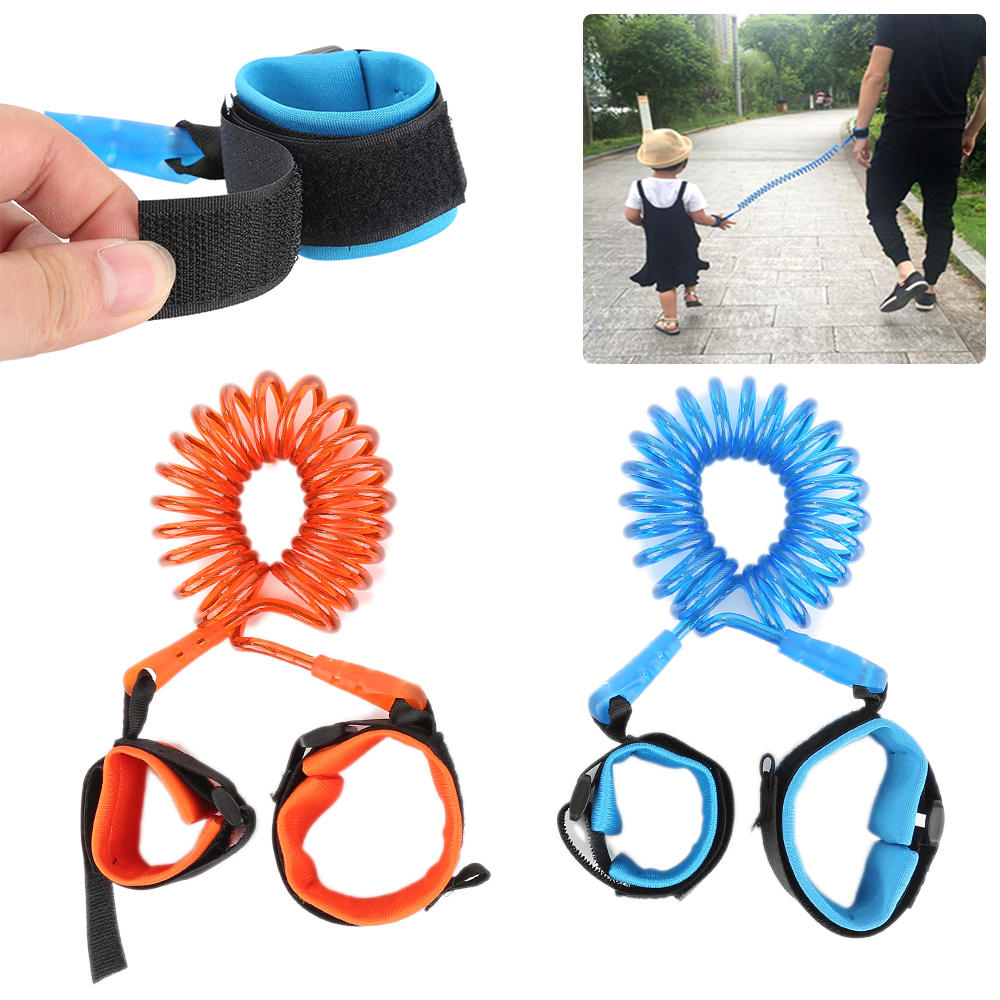 Adjustable Kids Safety Harness Child Wrist Leash Anti-lost Link Children Belt Walking Assistant Baby Walker Wristband 1.5M