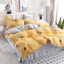 ParkShin Home Textile Cartoon Cat Bedding Sets Childrens set Bed Linen Duvet Cover Sheet Pillowcase/bed