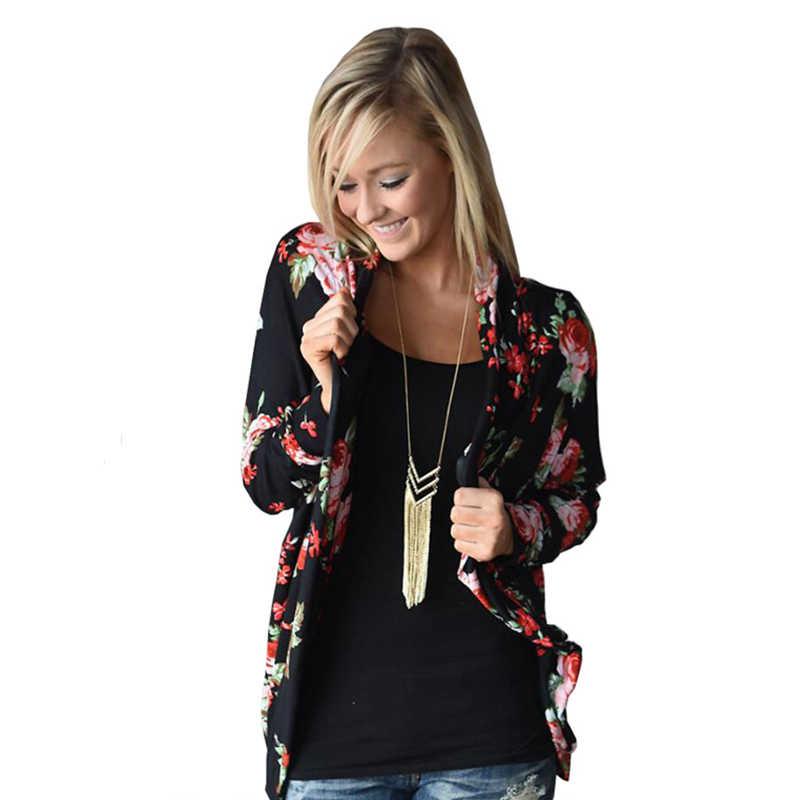 YRRETY, Женские базовые куртки, модная Женская Ретро куртка-бомбер на молнии с цветочным принтом, повседневное пальто, осенняя верхняя одежда, женская одежда 2018