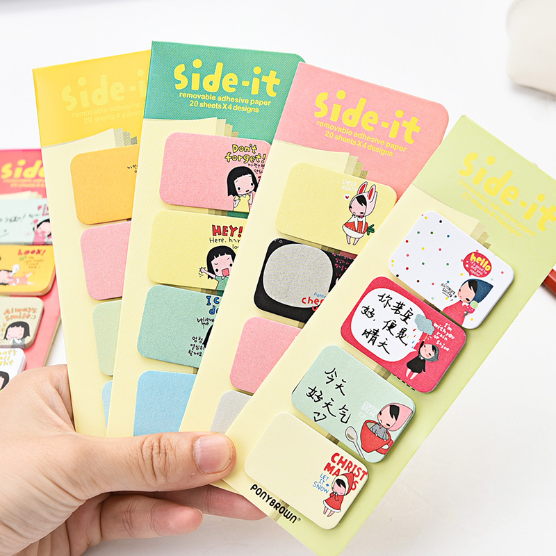 3pcs/lot New Kawaii Sticky Notes School Office Supplies Lovely Girl Stickers Korean Post it Stationery Store Memo Pads E2090