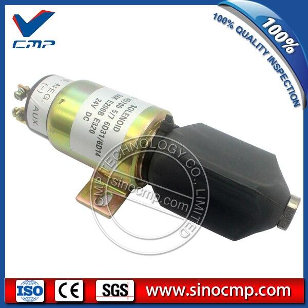 цена на 24v Fuel stop shut off solenoid 1751-24 1751-24E7U1B1A for Hyundai R160LC-7