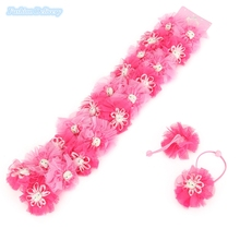 20pcs/lot Fashion Hello Kitty Hair Bands Lace Floral Hair Ties Ropes Rings Ponytail Holder Kids Hair Accessories