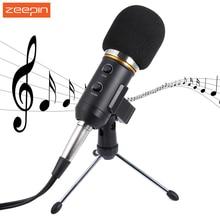 Audio Wired Microphone MK - F200FL 3.5mm Sound Recording Condenser Microphone with Shock Mount Holder Clip for KTV Karaoca