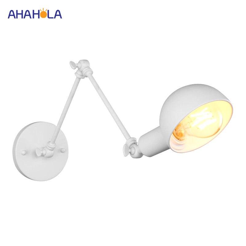 все цены на White Led Wall Light for Living Room AC 110V 220V Bedroom Led Wall Lamp Modern E27 Indoor Nordic Sconce Wall Lights Metal Arm