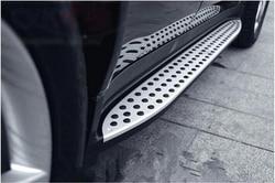 Samochód płyta pracuje stopień boczny Nerf Bar pedał dla Benz W164 ML350 2006 2007 2008 2009 2010 2011