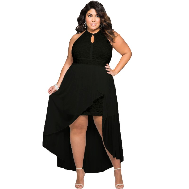 Large Size Clothing Women Plus Size Maxi Dress Lace Sleeve Formal