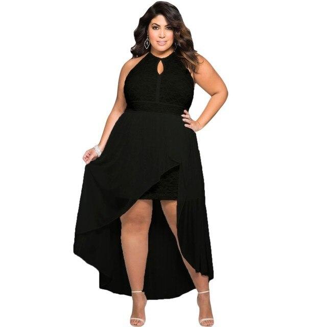 f3b708746c41 Haut bas robe d été femmes vêtements 2017 longue élégante filles robes big plus  taille