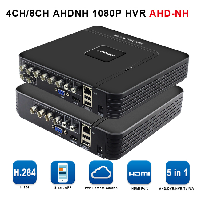 5 IN1 AHD 1080N 4CH 8CH CCTV DVR Mini DVR 5IN1 For CCTV Kit VGA HDMI Security System Mini NVR For 1080P IP Camera Onvif DVR PTZ 2
