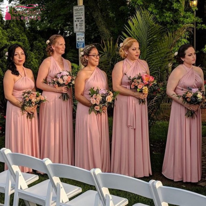 Dusty Rose   Bridesmaid     Dresses   Nude infinity convertible   Dress   2019 Formal Maternity   Dress   Cheap Price JQ158