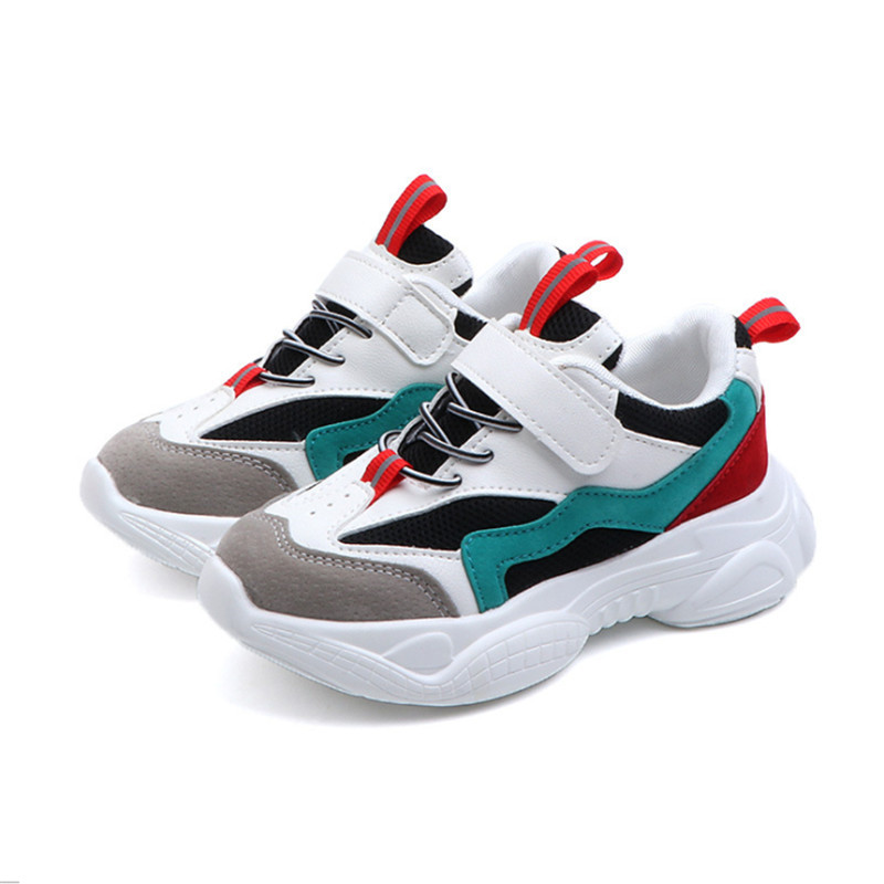 2019 New Spring Kids Shoes Mesh Color Matching Children's Tennis Breathable Sport Shoes Fashion Footwear Girls Boys Sneakers(China)