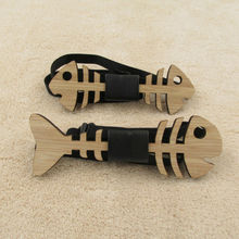 Wooden Bow Tie Fish Bone Guitar Heart