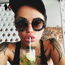 SHAUNA Trending Little Bee Decoration Candy Color Women Round Sunglasses Fashion Men Glasses UV400