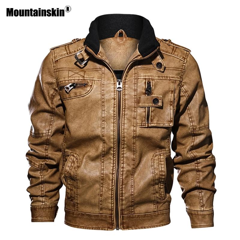 Alpinskin 7XL hommes veste en cuir synthétique polyuréthane en cuir manteau automne Slim Fit Faux cuir moto vestes hommes manteaux marque vêtements SA591 - 3