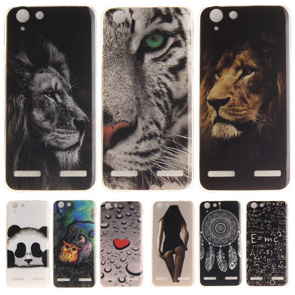 Cartoon <font><b>Phone</b></font> <font><b>Case</b></font> for Coque Lenovo Vibe K5 K 5 Plus A6020 Soft Silicon Cover for Lenovo Lemon 3 <font><b>Panda</b></font> Tiger Lion TPU Back <font><b>Cases</b></font>