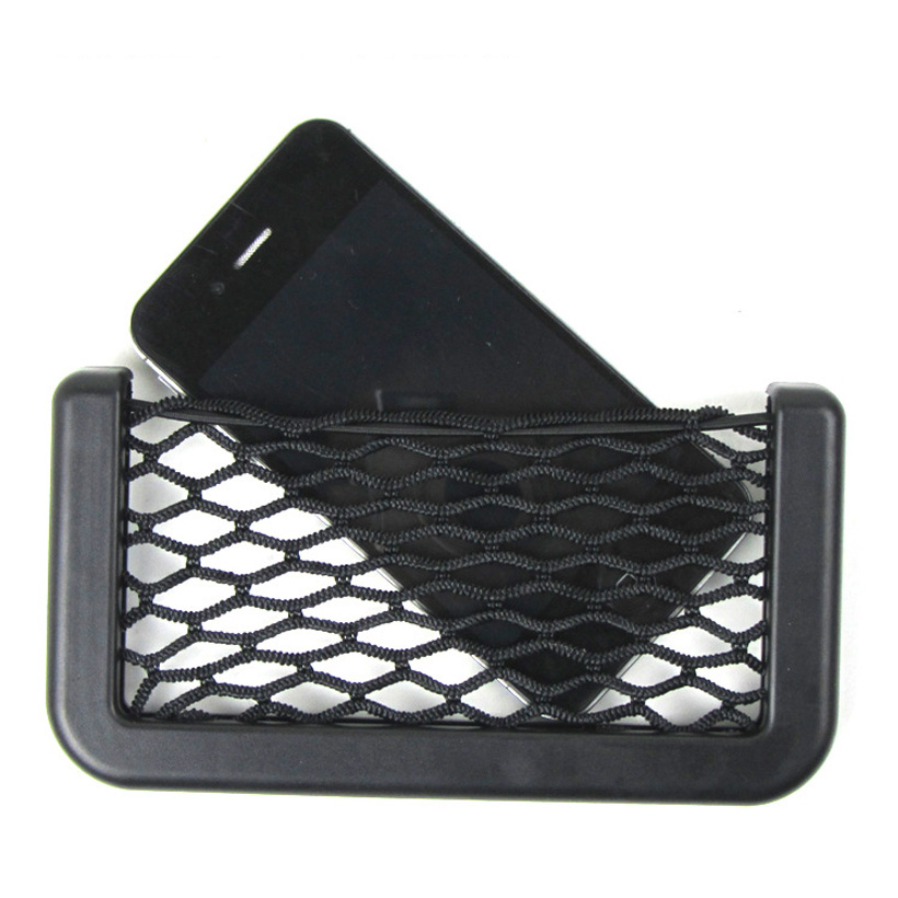 Newest Car Storage Net Automotive Pocket Organizer Bag For Mobile Phone Holder Auto Pouch Adhesive Visor Car Syling Bag Storage