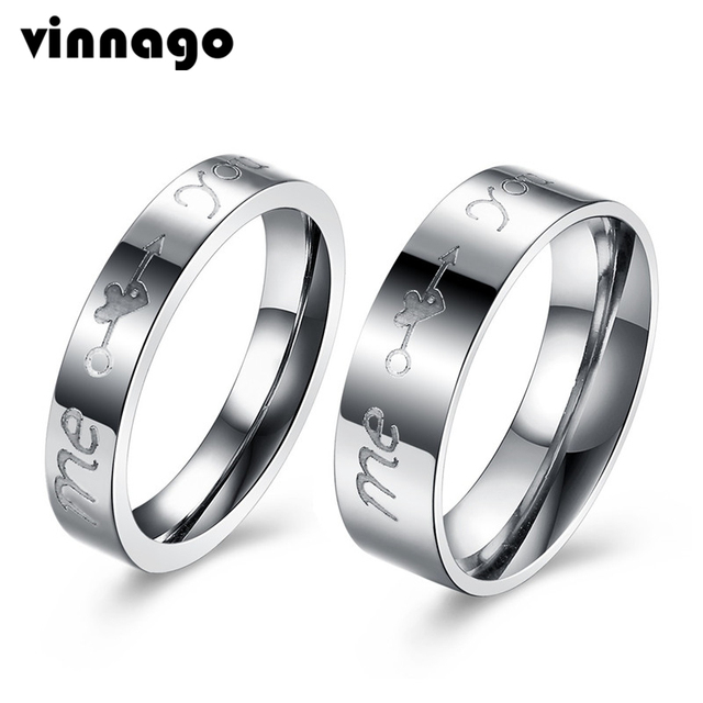 86e34bc749 2pcs Pair His and Her Promise Ring Set for Couples Wedding Rings Matching  Couple Rings for Women and Men Stainless Steel Jewelry