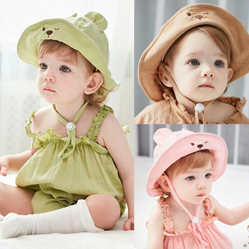 Baby Girls Kids Princess Infant Flower Sun Cap Summer Newborn Cotton Bucket Hat