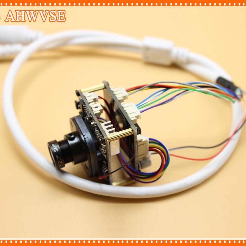 XMeye POE IP Caméra Large Vue 2.8mm Objectif CCTV POE IP caméra module Conseil PCB 960 P 1080 P ONVIF H264 Mobile IRCUT ONVIF