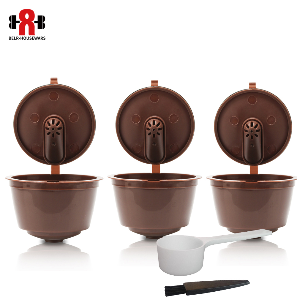 3Pcs/set Reusable Dolce Gusto Coffee Capsule 3rd Plastic Refillable Compatible Dolce Gusto Nescafe Coffee Machine