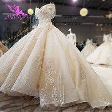 AIJINGYU, precio Real, vestidos hermosos, Colección, cola larga, vestidos baratos en línea Royal Suzhou, vestido de novia a la moda