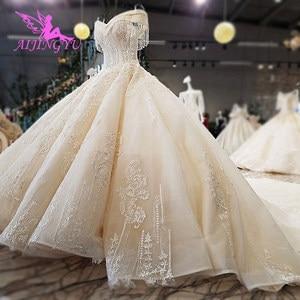 Image 1 - Aijingyu real preço bonito vestidos coleção longa cauda barato online royal suzhou vestidos na moda o vestido de casamento