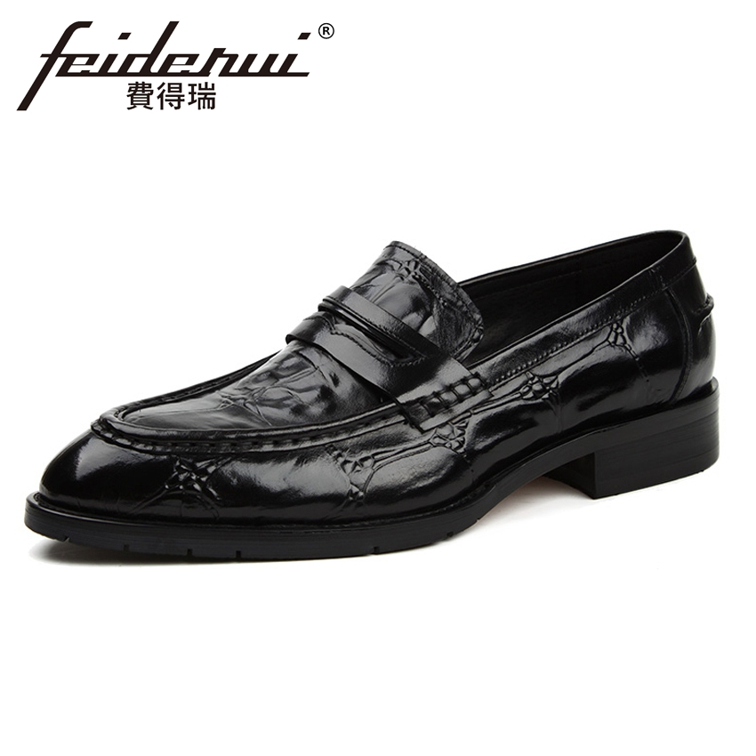 High Quality Alligator Genuine Leather Mens Height Increasing Loafers Fashion Round Toe Slip on Handmade Man Casual Shoes YMX388High Quality Alligator Genuine Leather Mens Height Increasing Loafers Fashion Round Toe Slip on Handmade Man Casual Shoes YMX388