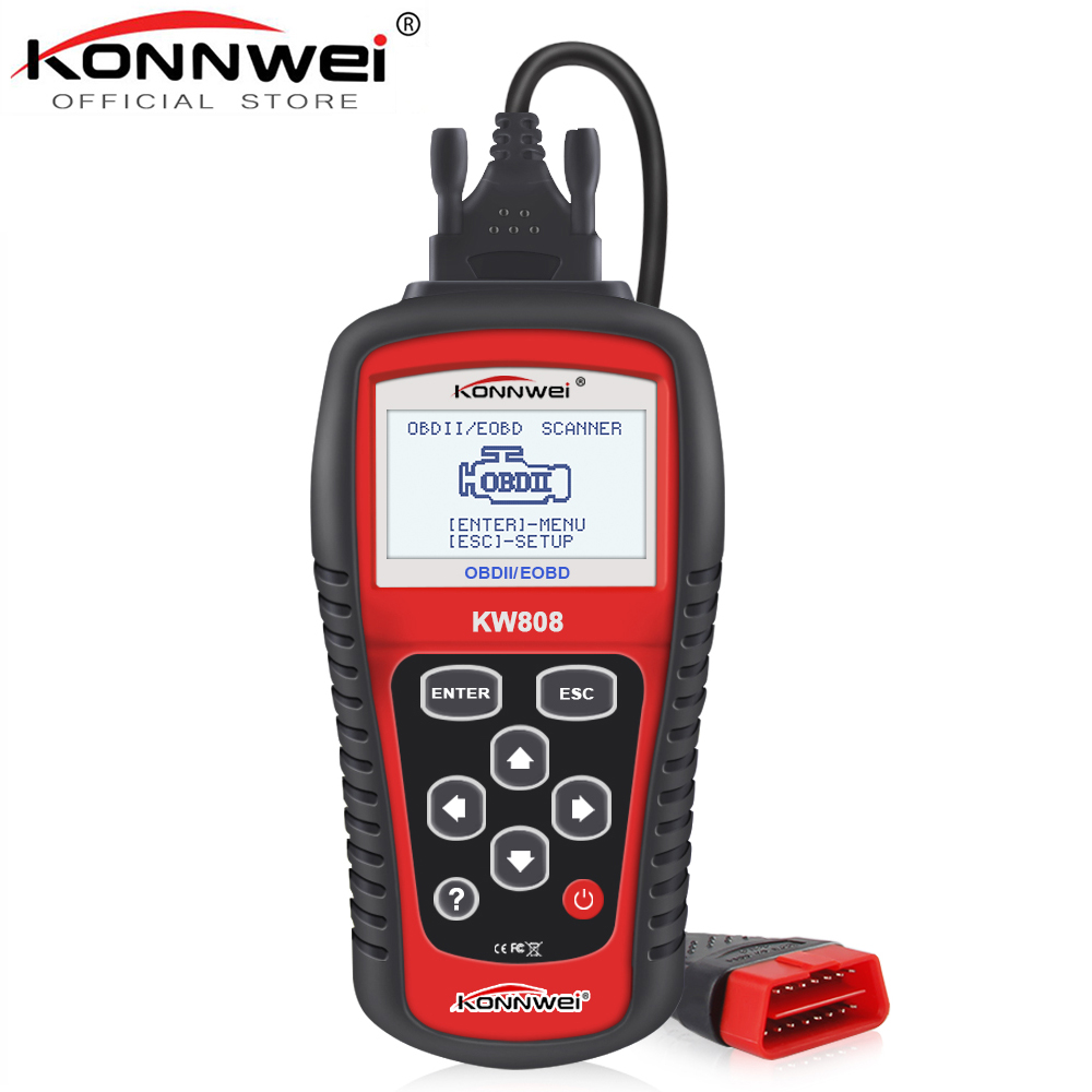 KONNWEI KW808 Car Diagnostic Tool OBD2 Activate engine analyzer Automotive Code Reader Scanner & New Brake Fluid Liquid Tester