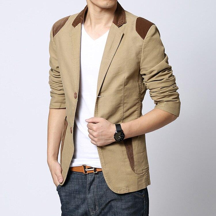Mens Blazer Casual Khaki Slim Fit Plus Size 4XL 5XL 6XL