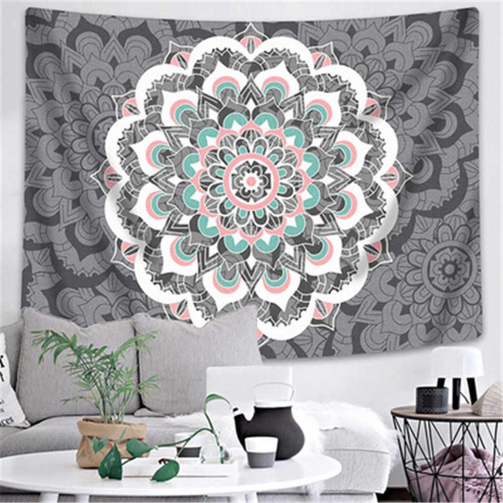 Retro Bunga Vintage Stiker Dinding Pakaian Karpet Permadani Psychedeli India Mandala Permadani Menggantung Macrame Dekorasi Rumah