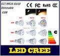 10X CREE Super Bright AC100-245V Dimmable 110V OR 220V E27 GU10 MR16 12V LED COB Spot Down Light Bulb Lamp 6W 9W 12W Chandeliers