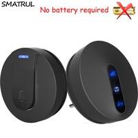 SMATRUL Self Powered Waterproof Wireless DoorBell 180M Remote No Battery EU Plug Home Cordless Door Bell