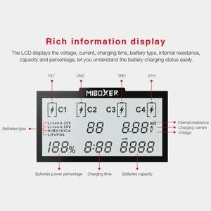 Image 5 - Miboxer C4 LCD Smart Batterie Ladegerat fur Li Ion IMR ICR LiFePO4 3.7v 18650 14500 26650 21700 AAA Batterien 100 800mah 1.5A
